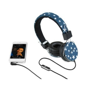 Sluchátka hi-Deejay Professional Blue White Star