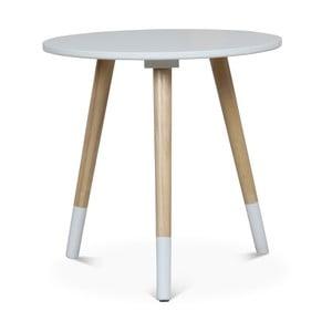 Bílý příruční stolek Opjet Paris Vick, ⌀40cm