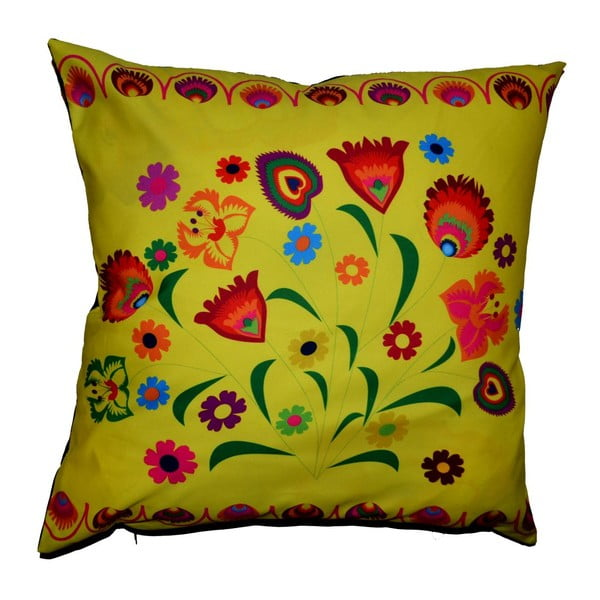 Polštář s náplní Folk Flowers, 50x50 cm