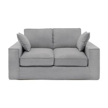 Canapea cu 2 locuri Vivonia Jane, gri deschis de la Vivonita
