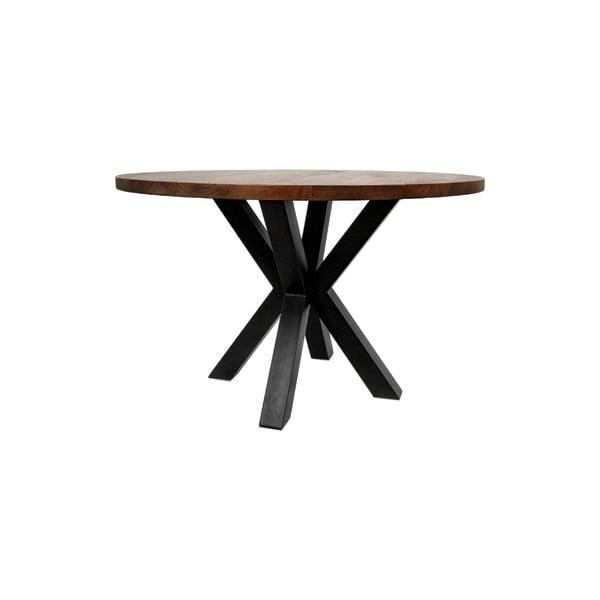 Kulatý jídelní stůl sdeskou zmangového dřeva HMS collection, ⌀140cm