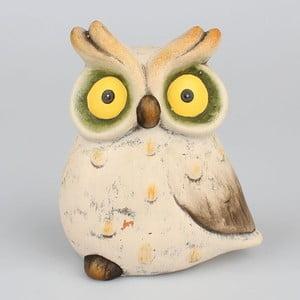 Dekorativní keramická soška Dakls Udivená sova