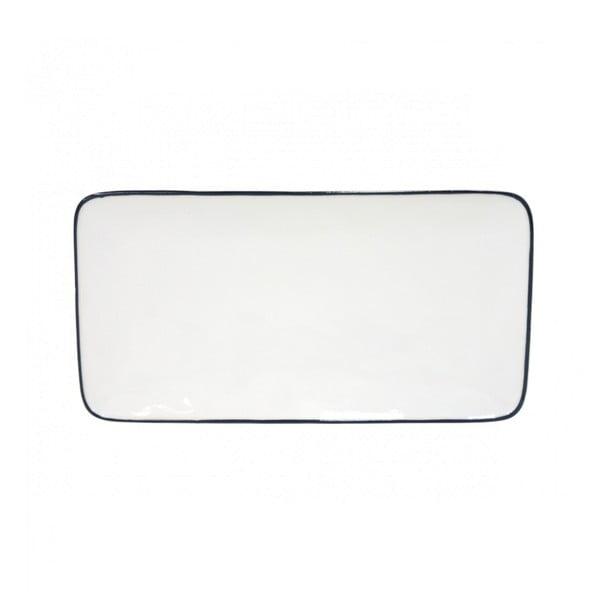 Bílý kameninový tác Costa Nova Beja, 29 x 15 cm