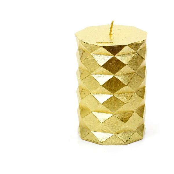 Fashion aranyszínű gyertya, magasság 10 cm - Unimasa