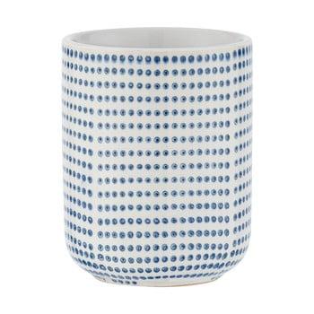 Suport ceramică pentru periuțe de dinți Wenko Nole, alb - albastru imagine