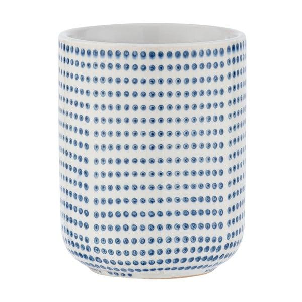 Suport ceramică pentru periuțe de dinți Wenko Nole, alb - albastru