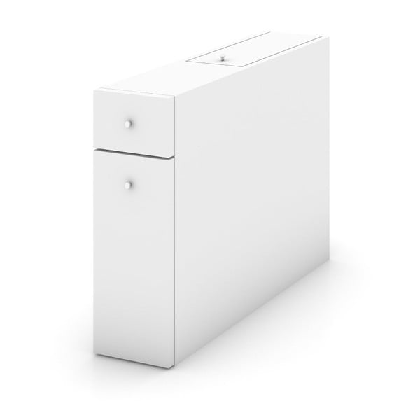 Bílá koupelnová skříňka, 55 x 60 cm