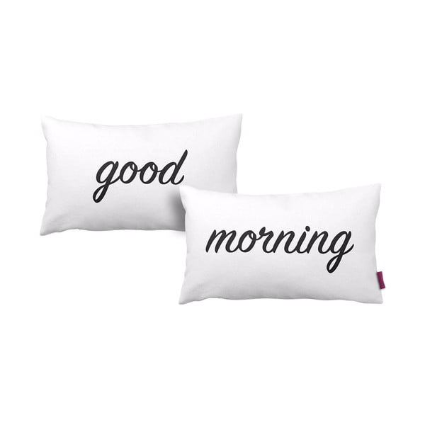 Sada 2 polštářů Good Morning White 33x57cm