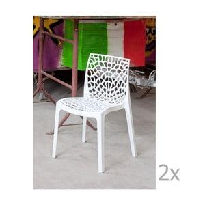Sada 2 bílých jídelních židlí Castagnetti Apollonia