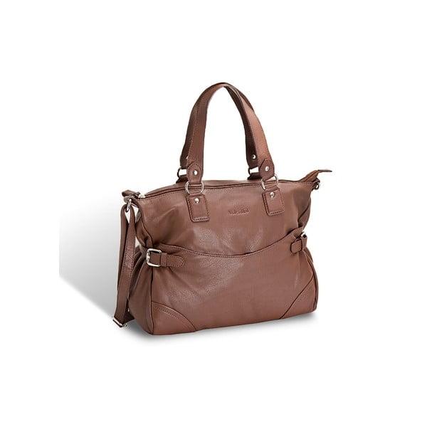 Kožená kabelka Valentini 810, hnědá