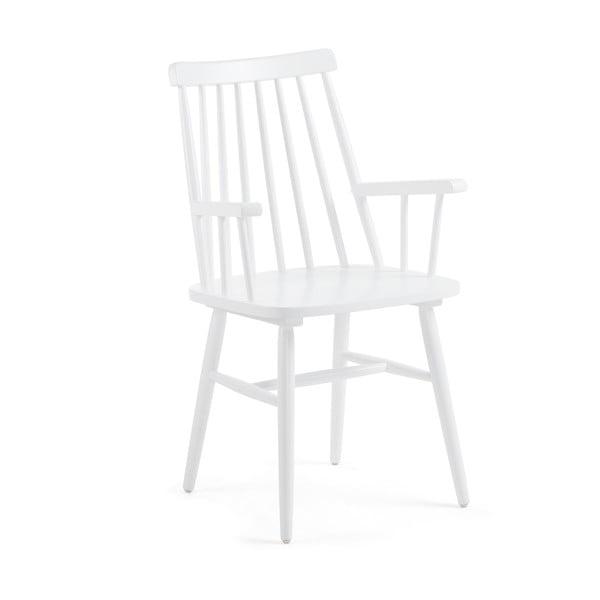 Bílá jídelní židle ze dřeva kaučukovníku La Forma Kristie