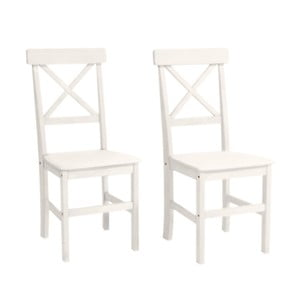 Sada 2 bílých jídelních židlí z borovicového dřeva Støraa Nicoline