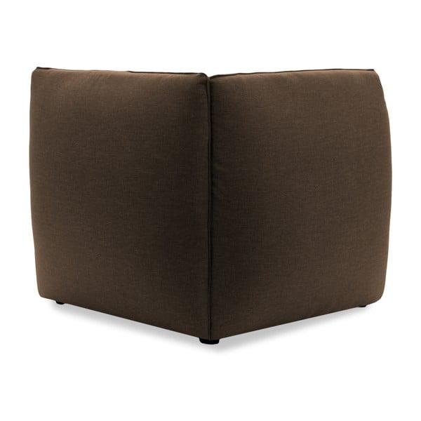 Tmavě béžový pravý rohový modul pohovky Vivonita Cube