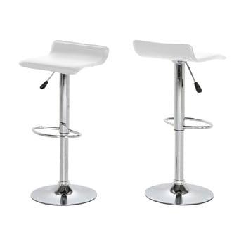 Set 2 scaune de bar Actona Dan, alb de la Actona
