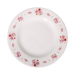 Bílý keramický talíř AnticLine Charme, ⌀ 26 cm