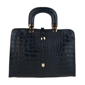 Černá kožená kabelka Chicca Borse Becci