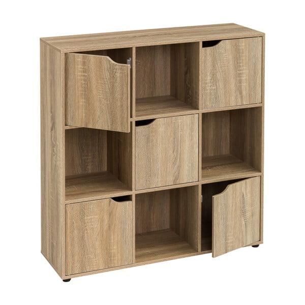 Drewniana biblioteczka z 5 drzwiczkami Unimasa Medida