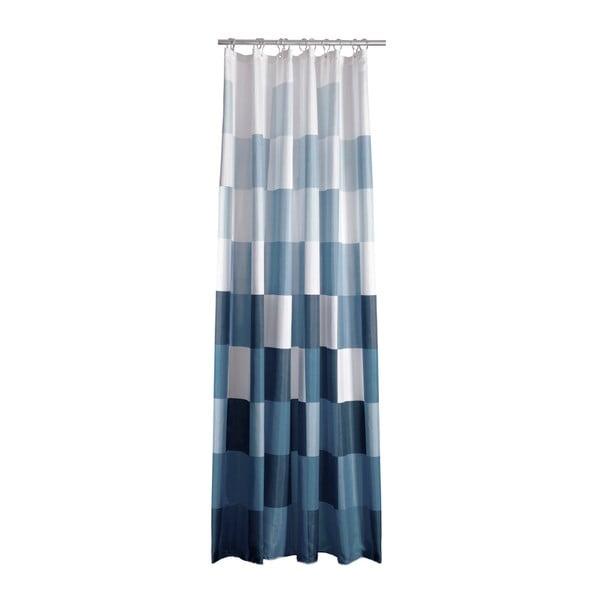 Modro-bílý sprchový závěs Zone Square