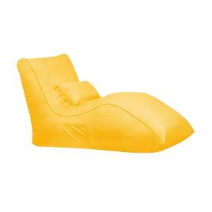 Žlutý sedací vak Sit and Chill Palawan Chaise Longue