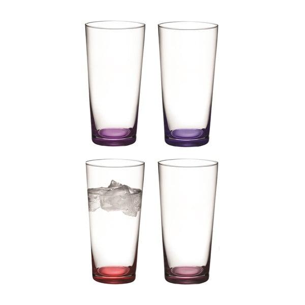 Coro Purple, vysoká sklenice, sada 4 ks