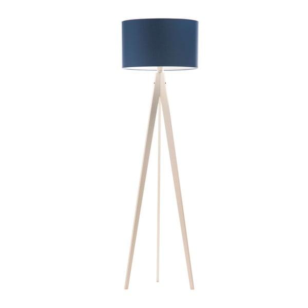 Modrá stojací lampa 4room Artist, bílá lakovaná bříza, 150 cm