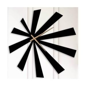 Černé kovové nástěnné hodiny Andrew