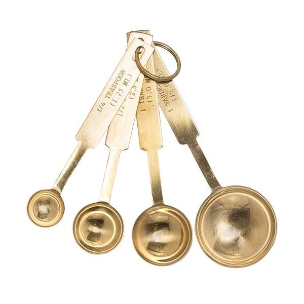 Set 4 linguri de măsurat Bloomingville, auriu