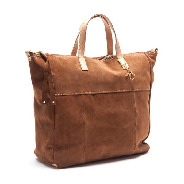 Kožená kabelka Renata Corsi 8026 Cognac