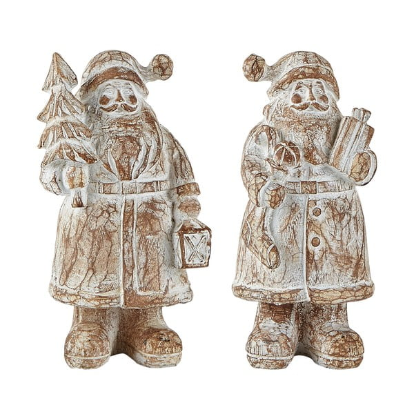 Set 2 figurine decorative KJ Collection Santa Claus, 13,5 cm