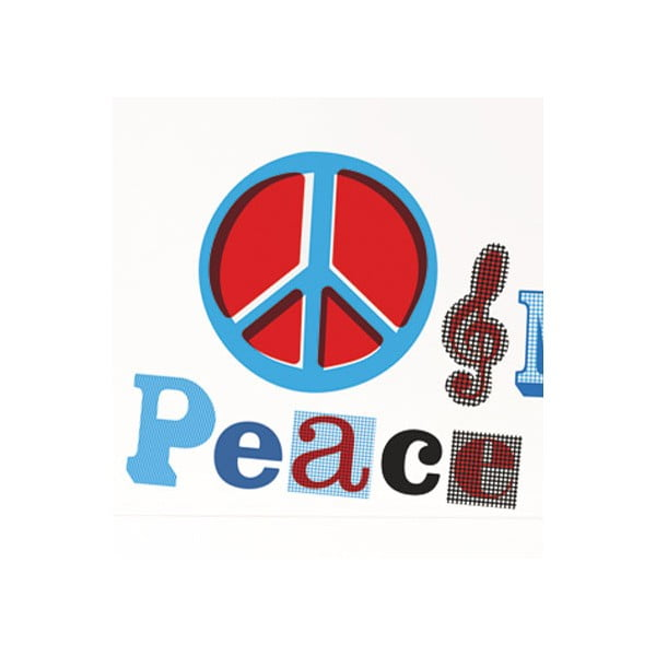 Samolepky na zeď Peace and Music