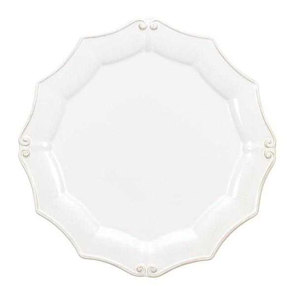 Bílý kameninový talíř Vintage Port, ⌀30cm