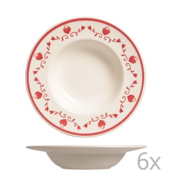 Sada 6 polévkových talířů Country, 24 cm