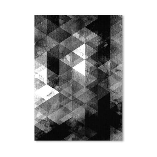 Plakát Geometric Black Grey