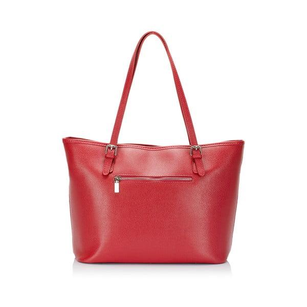 Červená kožená kabelka Lisa Minardi Gosha