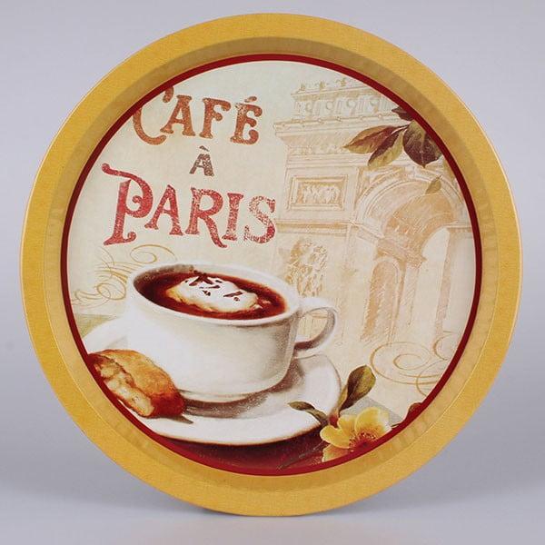 Plechový podnos Café a Paris