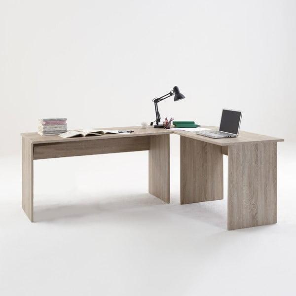 Rohový pracovní stůl v dekoru dubového dřeva 13Casa Till
