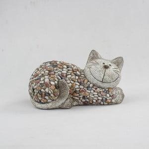 Zahradní dekorace Dakls Garden Deco Cat With Stones, výška 18 cm