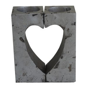 Cementové srdce Stardeco, 14 cm