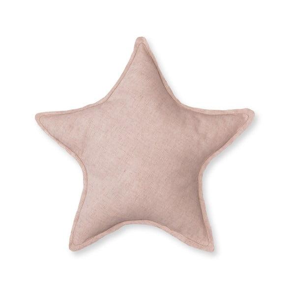 Růžový dekorativní polštář Little Nice Things Star