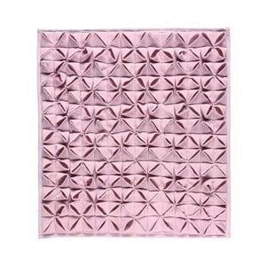 Koupelnová předložka Origami Light Pink, 60x60 cm