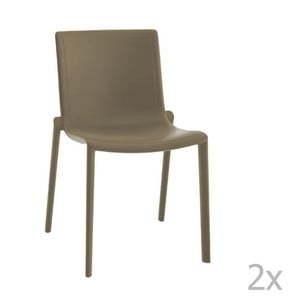 Sada 2 hnědých zahradních židlí Resol Kat