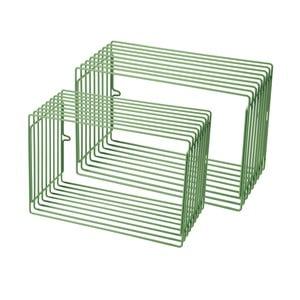 Sada 2 zelených poliček Done by Deer Wire