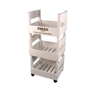 Příruční kuchyňský stolek Maiko Boxes v bílé barvě