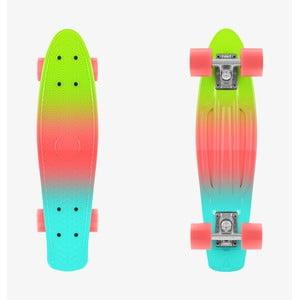 Barevný skateboard InnovaGoods Mini Cruiser Lime
