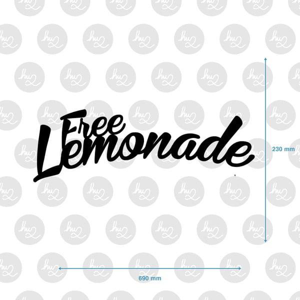Nástěnná dřevěná dekorace  Free Lemonade