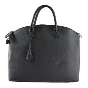 Černá kožená kabelka Chicca Borse Meria