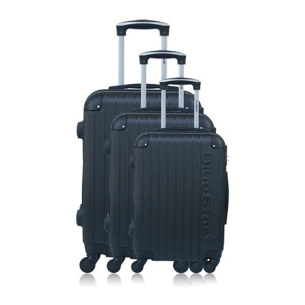 Sada 3 černých kufrů na kolečkách BlueStarBucarest