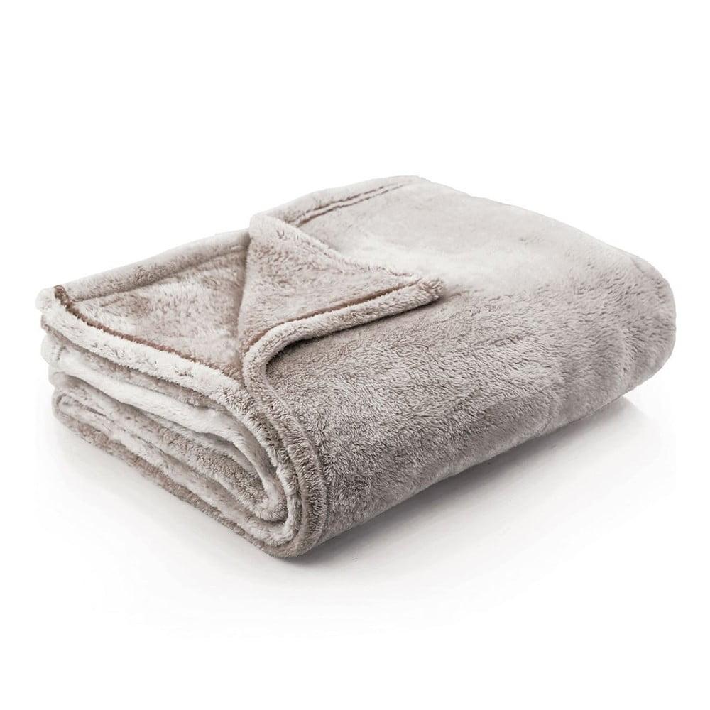 Světle hnědá deka z mikrovlákna DecoKing Fluff Brown, 150 x 200 cm