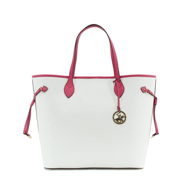 Kabelka Beverly Hills Polo Club 444 - White/Fuchsia