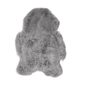 Světle šedá ovčí kožešina s krátkým chlupem Lina, 90x60cm